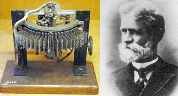 Vynálezce  Almon B. Strowger se svým automatickým telefonním voličem